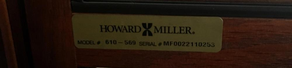 Howard Miller Grandfather Floor Clock No. 610-569
