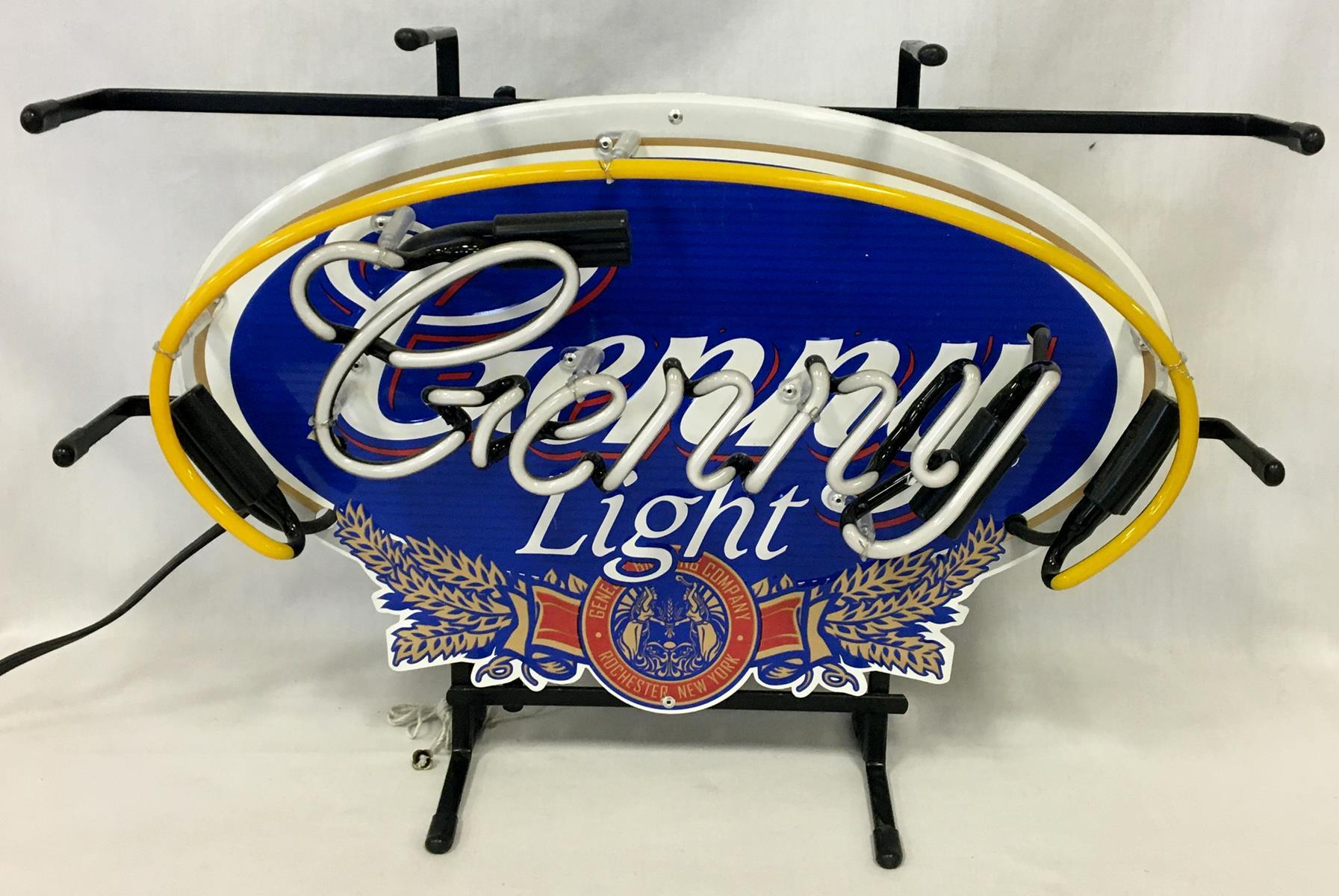 2007 Genny Light Beer Neon Lighted Sign WORKS New Old Stock