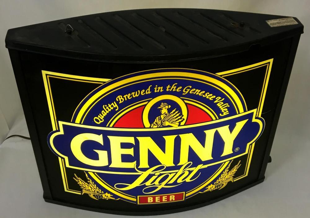Vintage 1980's Genny Light 2 Sided Lighted Sign WORKS