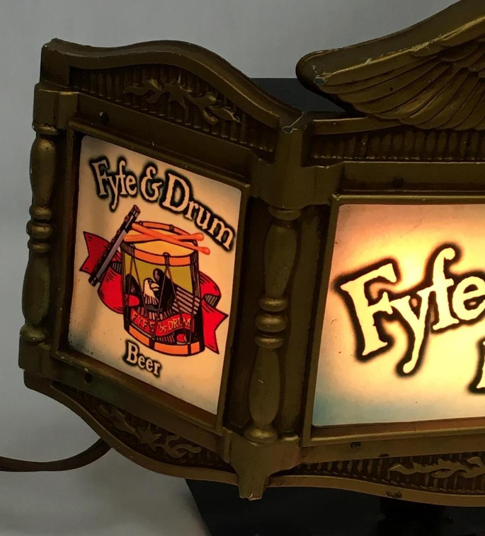 Vintage 1960's Genesee Fyfe & Drum Beer Cashed Register Display Lighted Bar Sign WORKS