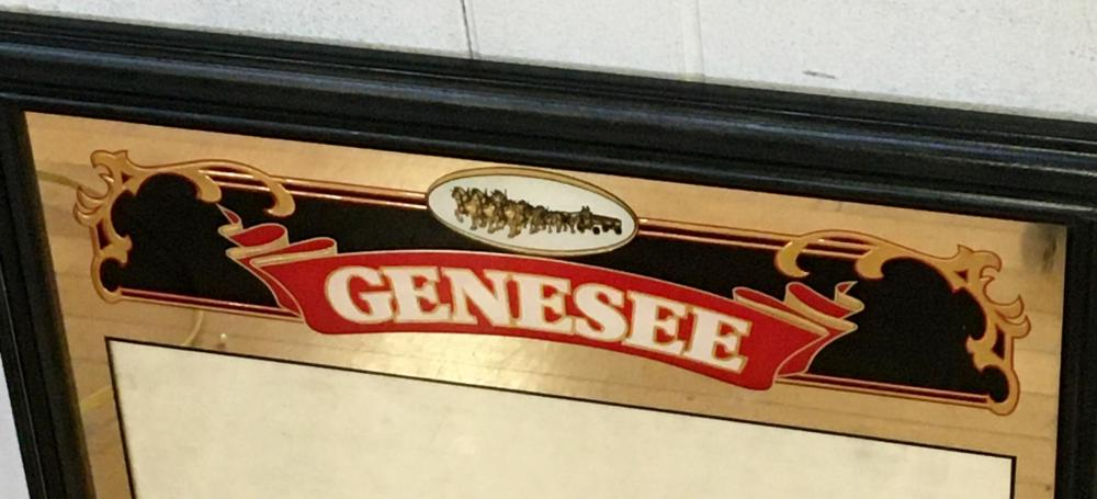 Genesee 12 Horse Ale Mirrored Menu Board NEW OLD STOCK