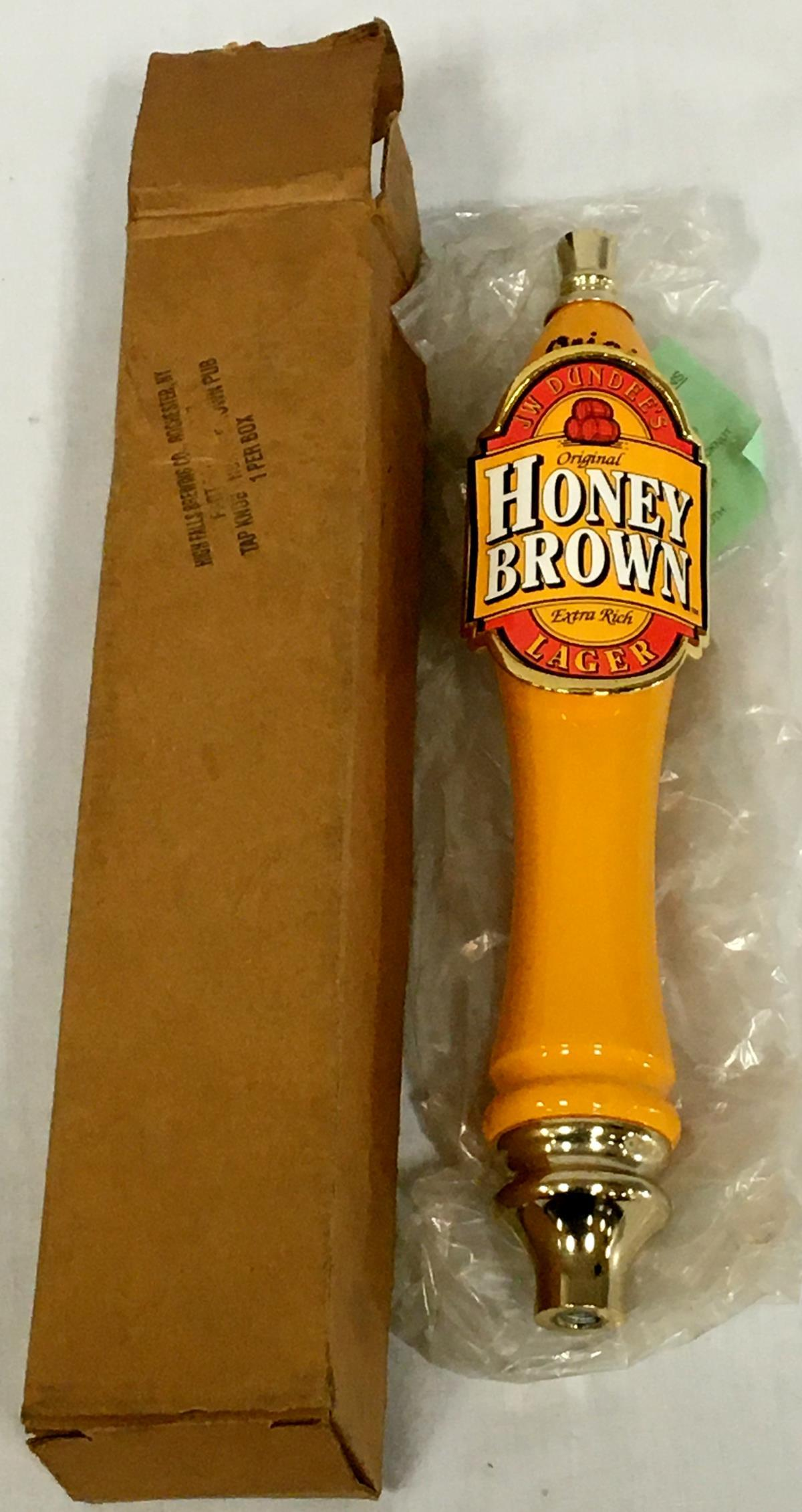 JW Dundee's Honey Brown Lager Tap Handle w/ Original Box NEW OLD STOCK