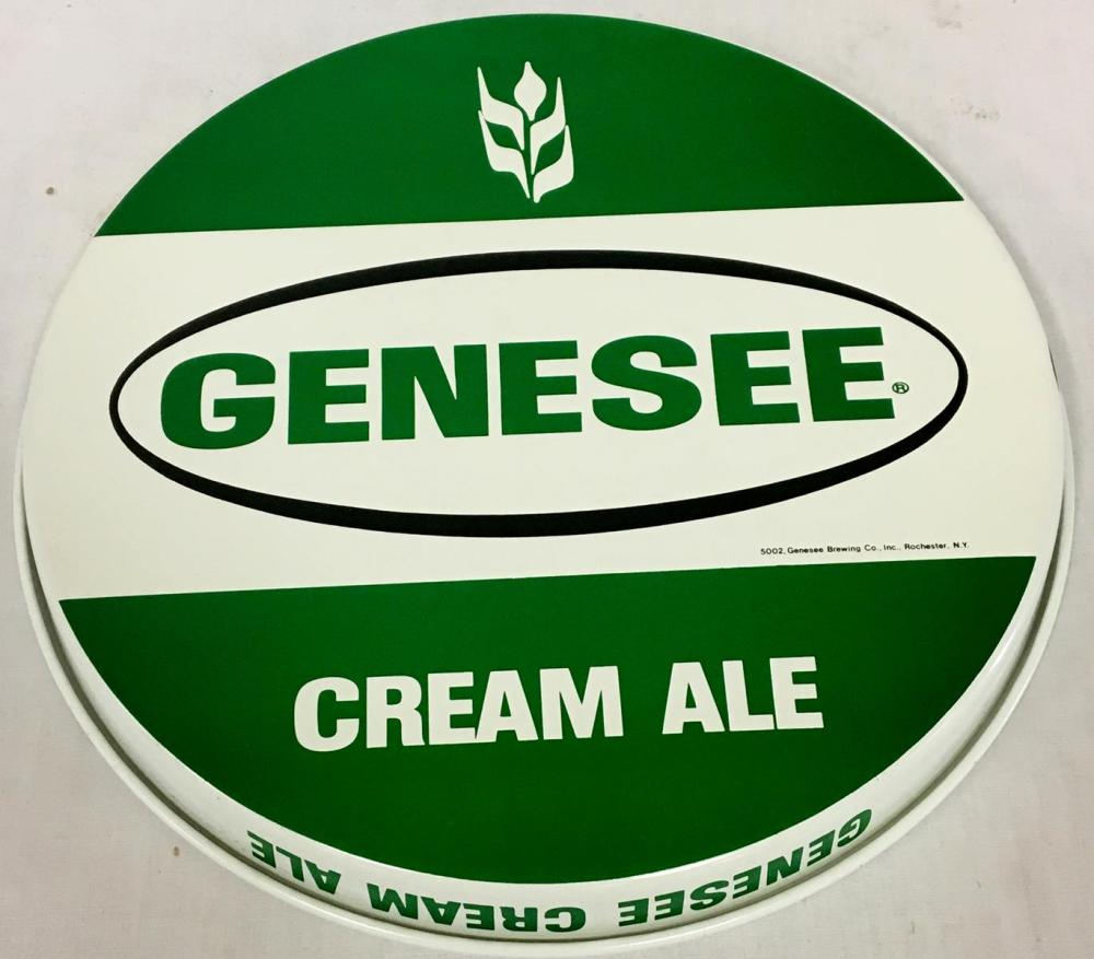 Vintage 1970's Genesee Cream Ale Metal Tray Rochester NY NEW OLD STOCK