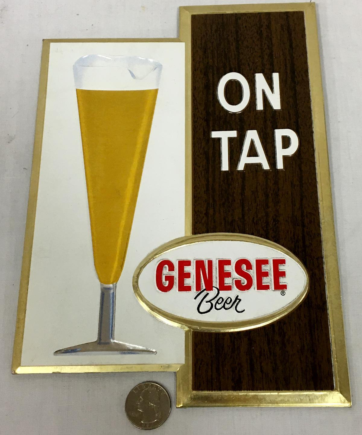 "Vintage 1962 Genesee Beer ""On Tap"" Heavy Cardboard Sign NEW OLD STOCK"