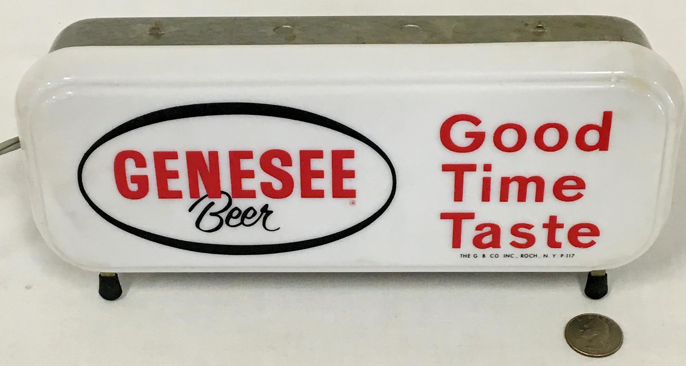 """Vintage 1950's Genesee Beer """"Good Time Taste"""" Cash Register Lighted Sign NEW OLD STOCK Works"""