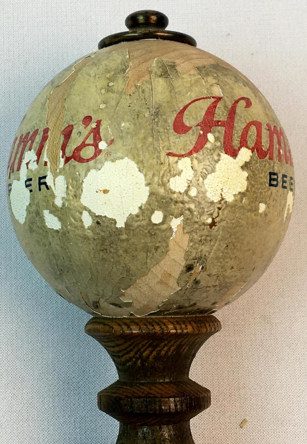 RARE Vintage 1940's Hamm's Beer Ball / Globe Tap Handle