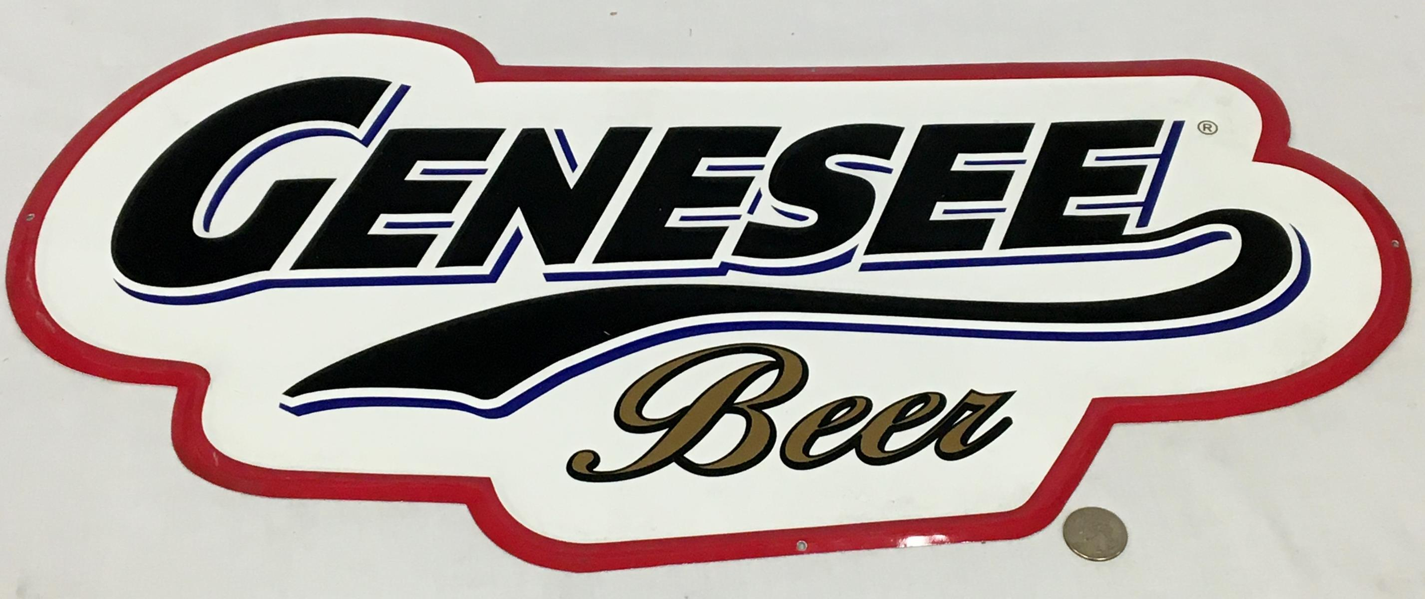 Genesee Beer Metal Tin Sign NEW OLD STOCK