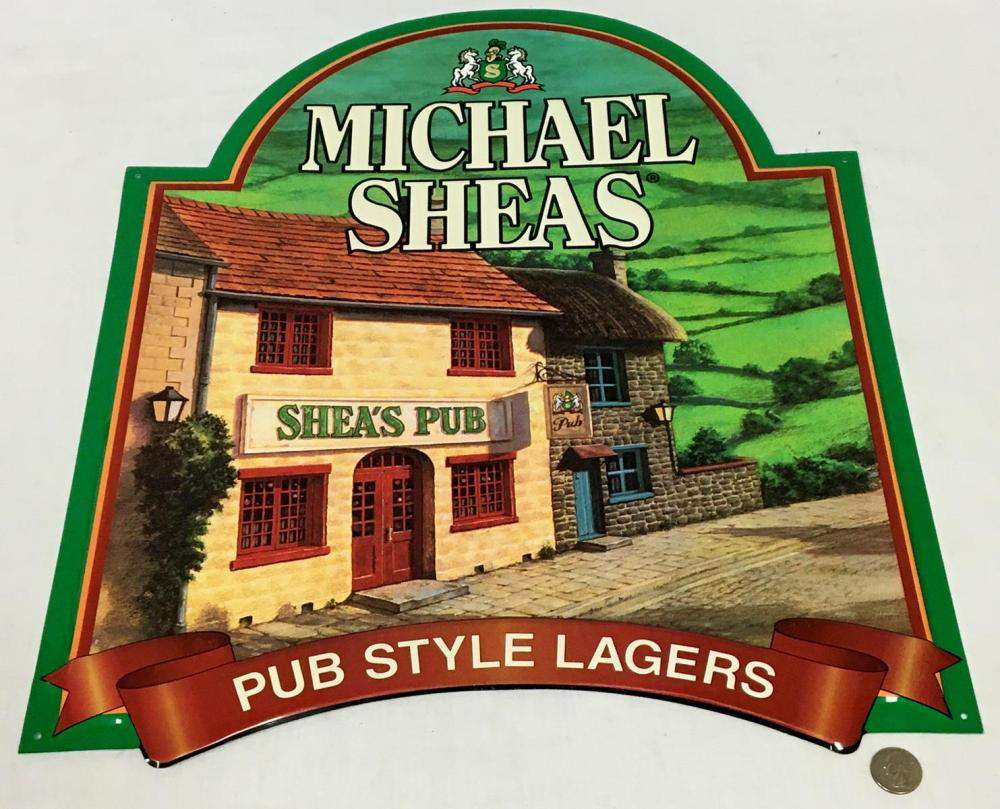 Michael Shea's Pub Style Lagers Metal Tin Sign NEW OLD STOCK