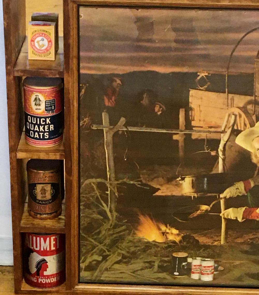 Vintage Large 1948 Rheingold Beer Shadowbox w/