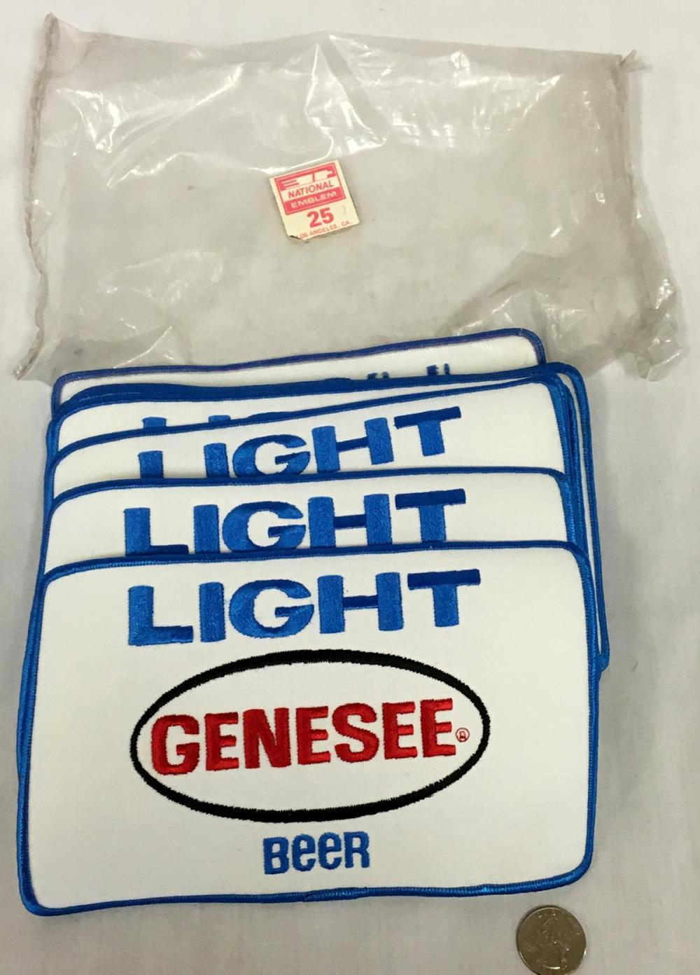 Vintage 1980's Lot of 16 Genesee Light Beer Large Patches NEW OLD STOCK
