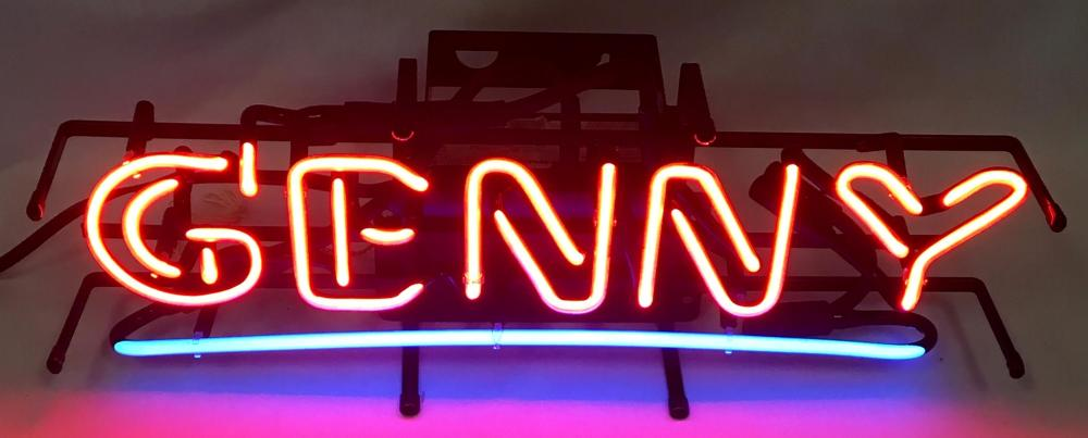 2000 Genny Beer Neon Lighted Sign WORKS New Old Stock
