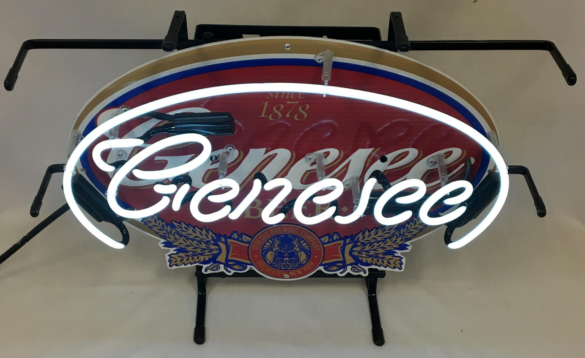 2007 Genesee Beer Neon Lighted Sign w/ Box WORKS New Old Stock
