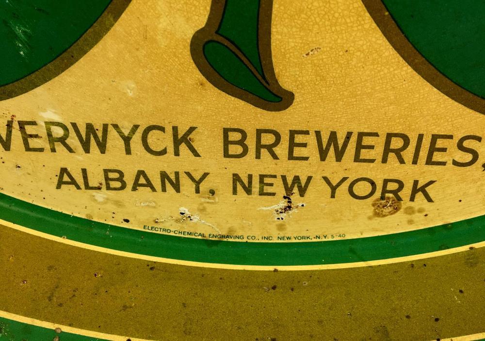 Vintage 1940 Beverwyck Brand Irish Cream Ale Metal Beer Tray