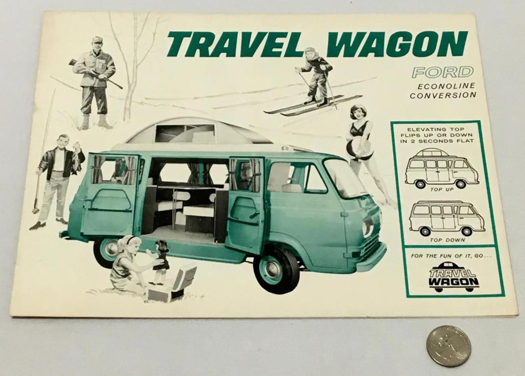 Vintage 1963 Ford Travel Wagon Advertising Brochure