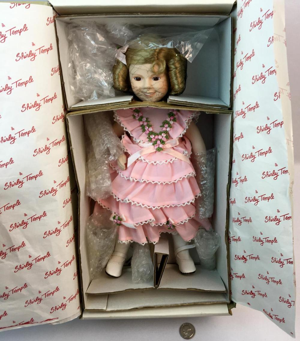 "Vintage 1986 Shirley Temple ""Littlest Rebel"" Porcelain Doll 14"" Dolls of The Silver Screen Danbury Mint"