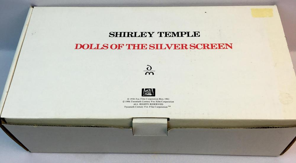 "Vintage 1986 Shirley Temple ""Littlest Rebel"" Porcelain Doll 14"" Dolls of The Silver Screen Danbury Mint"