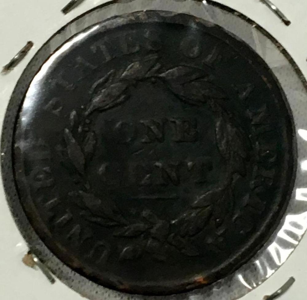 1835 US 1c Coronet Head Large Cent W/ Small Stars
