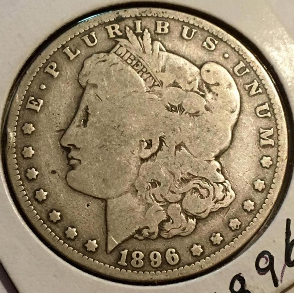 1896-O US $1 Morgan Silver Dollar