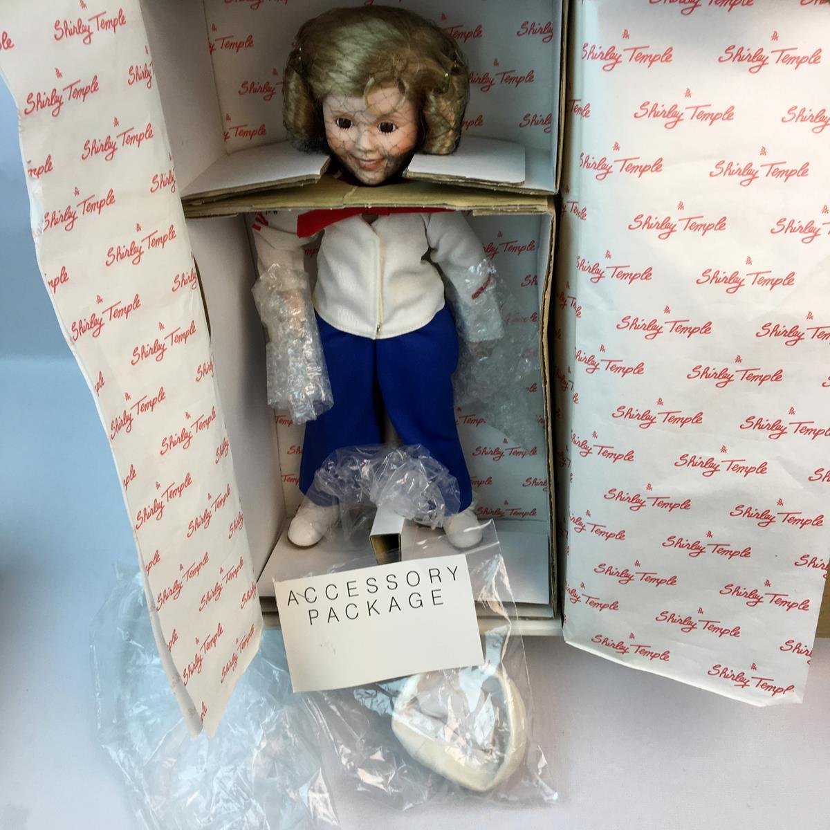 """Vintage 1986 Shirley Temple """"Captain January"""" Porcelain Doll 14"""" Dolls of The Silver Screen Danbury Mint"""