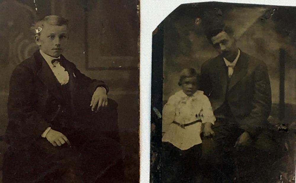 Antique c. 1890 Lot of 5 Misc. Tintype Photographs (Children, Women, Nice Backgrounds, Etc..)