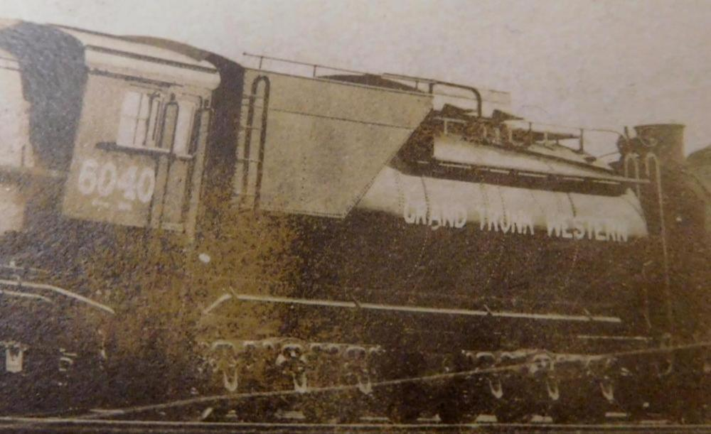 Antique c. 1920 Grand Trunk Western 6040 Baldwin Locomotive Engine Real Photo Post Card