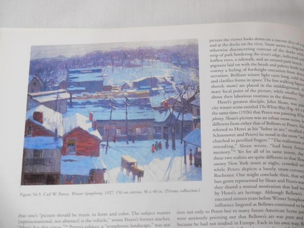 """1999 Carl W. Peters """"American Scene Painter From Rochester To Rockport By Richard H. Love W/ DJ FIRST EDITION"""
