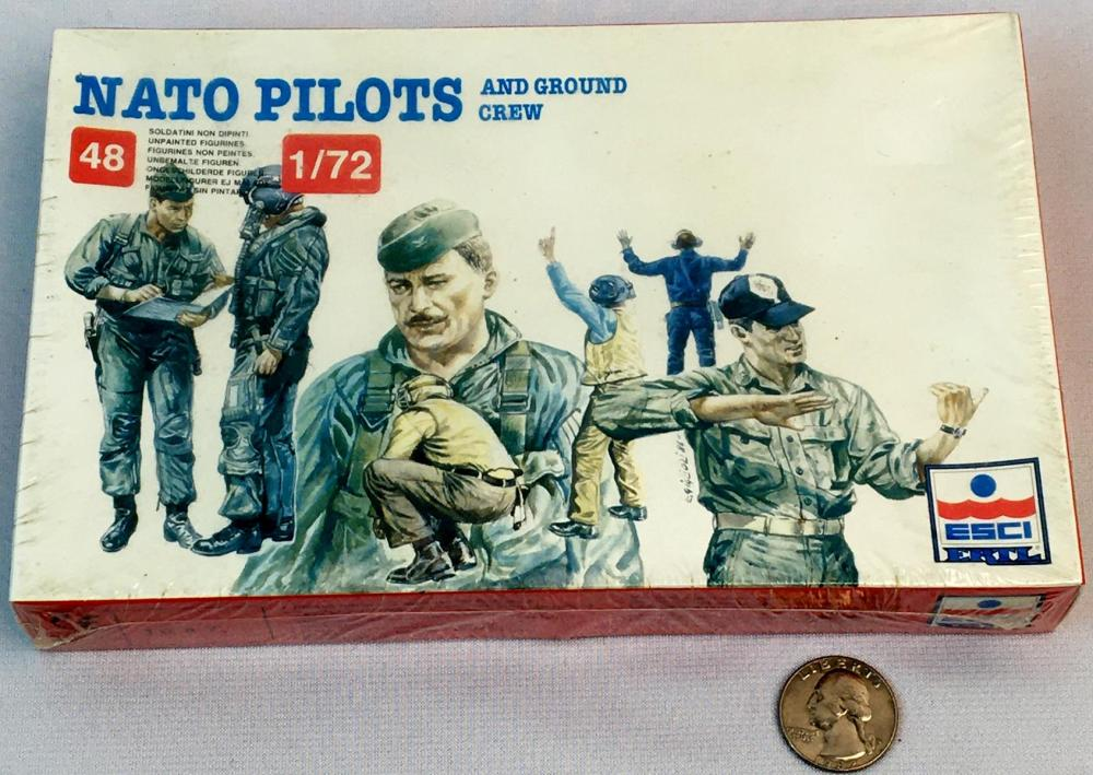 Vintage 1980's Nato Pilots and Ground Crew 1/72 Scale ESCI ERTL Model Kit SEALED