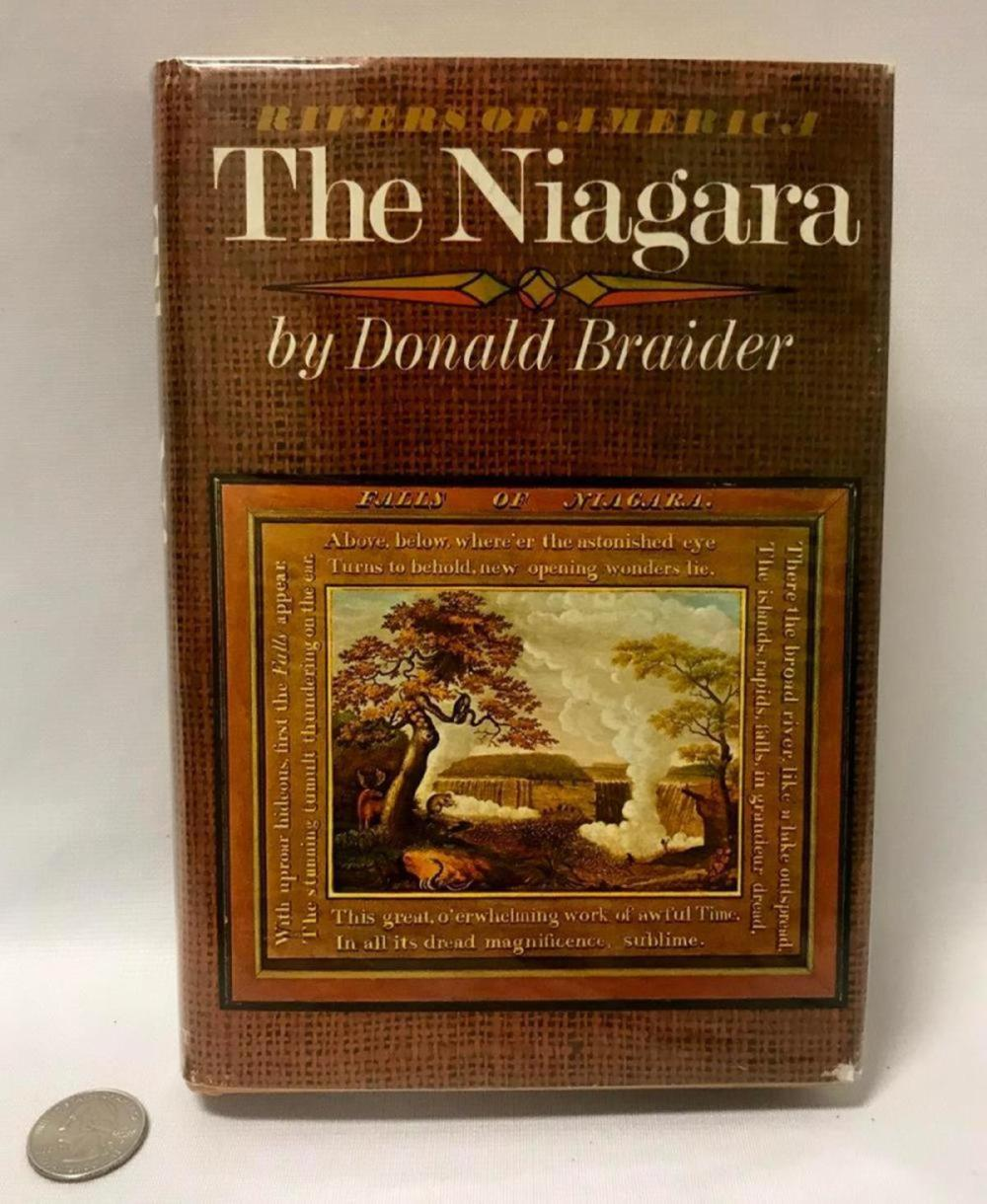 1972 Rivers Of America: The Niagara By Donald Braider W/ Dust Jacket FIRST EDITION