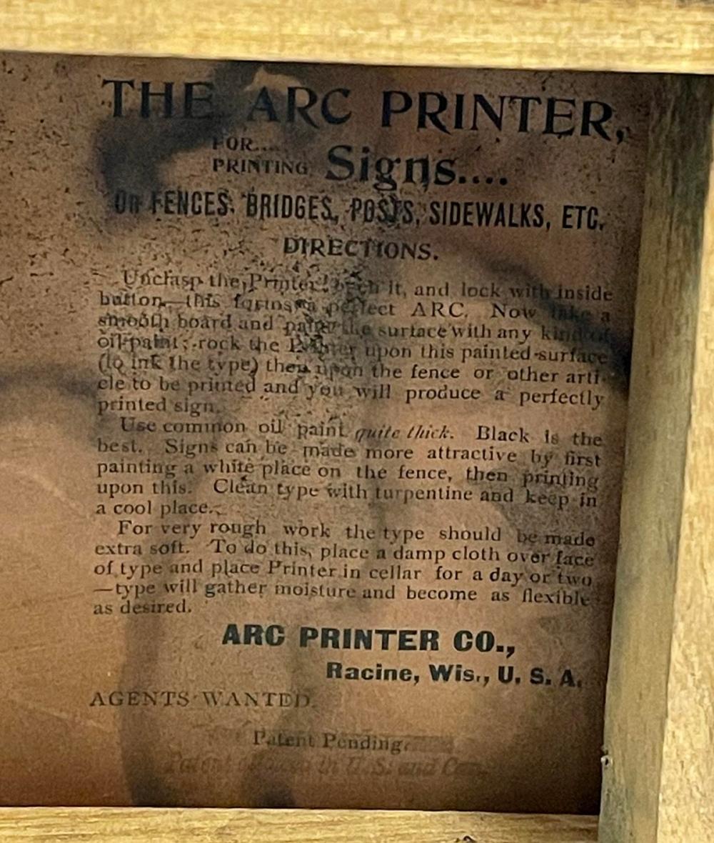 RARE Antique c. 1900 Arc Printing Co.