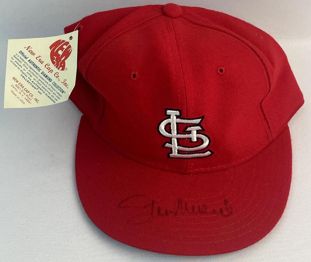 SIGNED Stan Musial St. Louis Cardinals New Era Cap Fitted Hat w/ COA