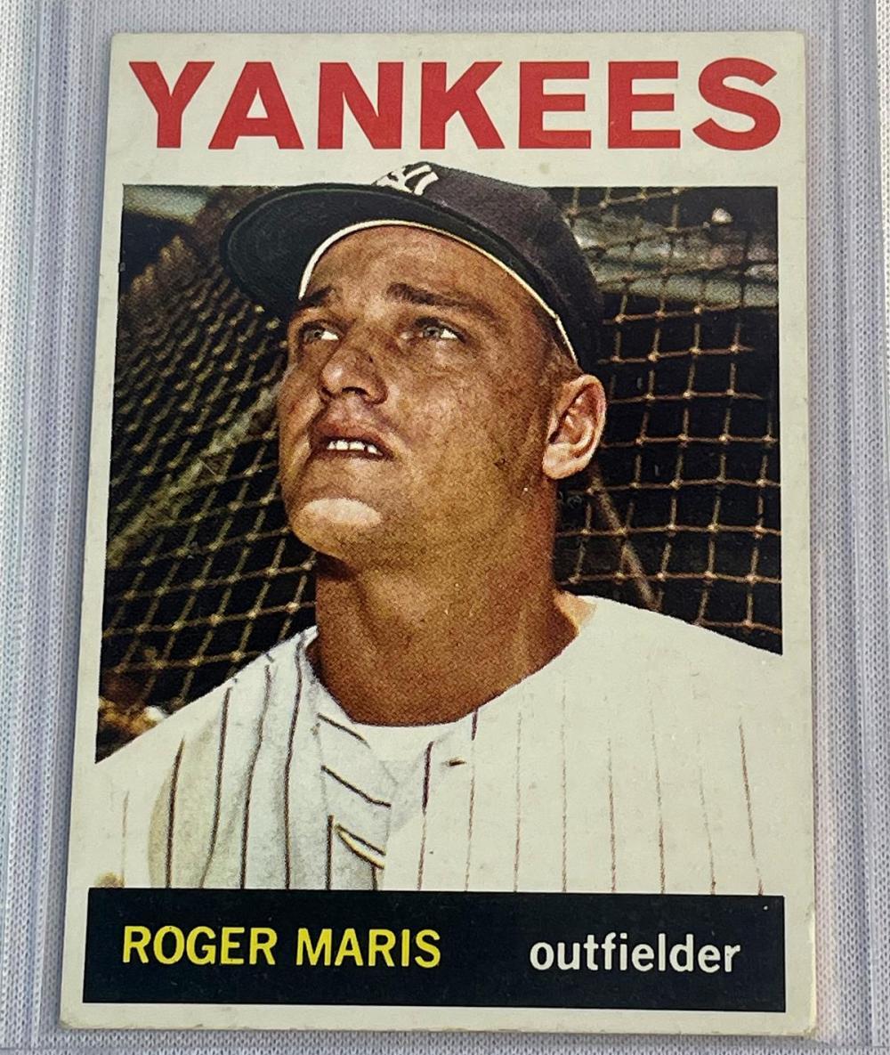 1964 Topps #225 Roger Maris New York Yankees Baseball Card