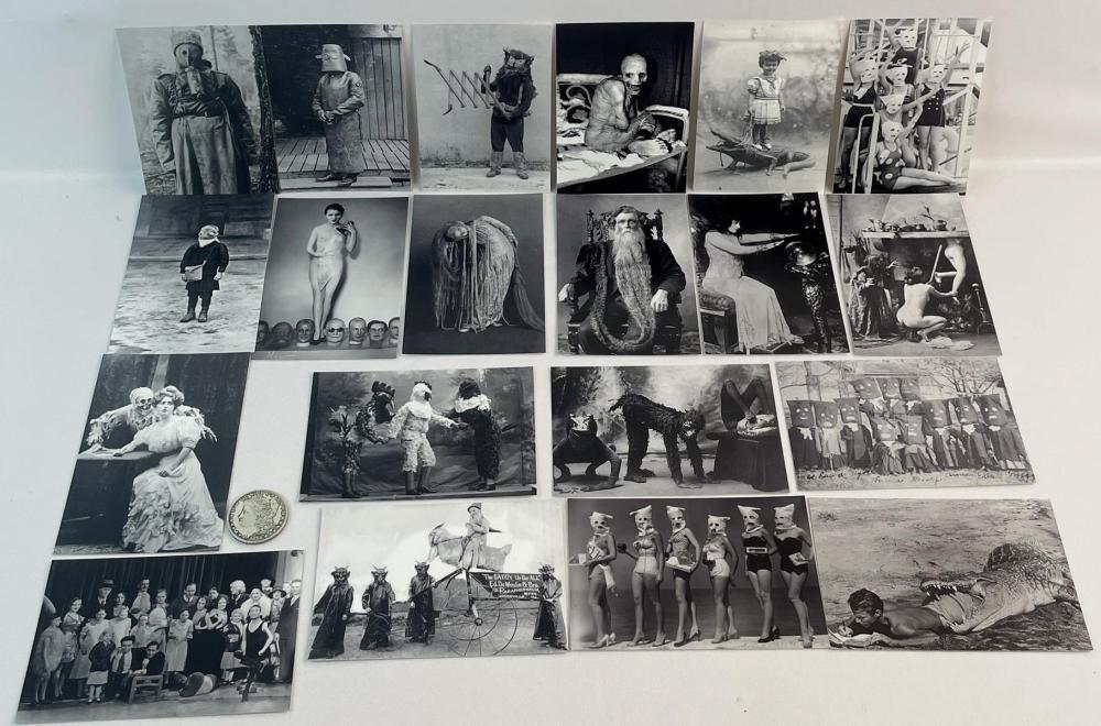 Lot of 20 Misc. Weird, Odd, Strange, Freak, Etc.. Photograph Prints (Nude, Costume, Etc..)