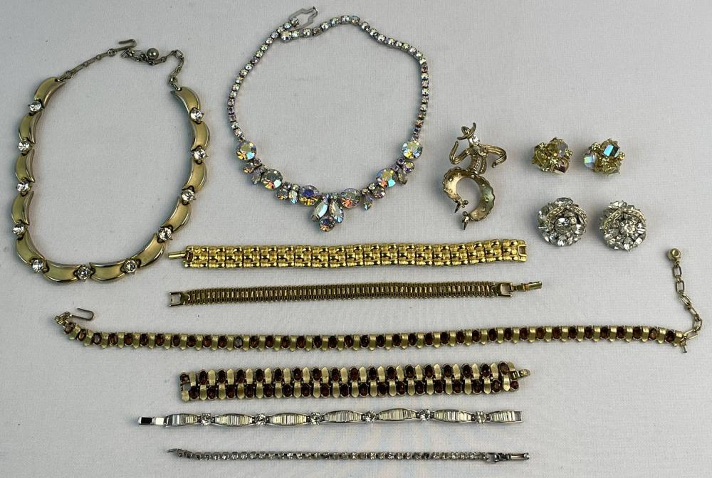 Large Lot of Signed Costume Jewelry (Trifari, Weiss, Napier, Etc.)