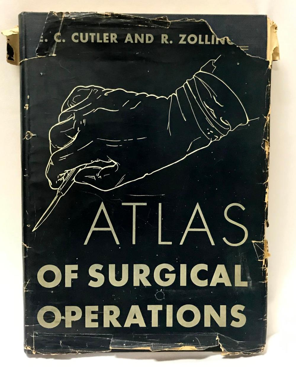 1939 Atlas of Surgical Operations by Elliot C. Cutler FIRST EDITION