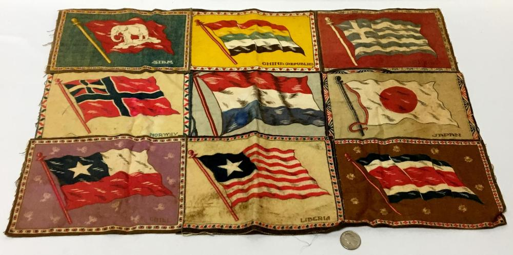 Vintage Tobacco Felt Flag (China, Liberia, Japan, Norway, etc..)