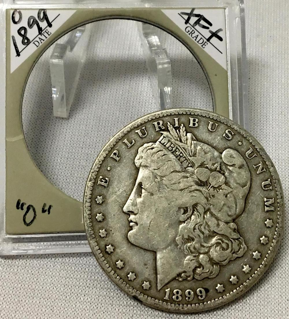 1899-O US $1 Morgan Silver Dollar w/ Case