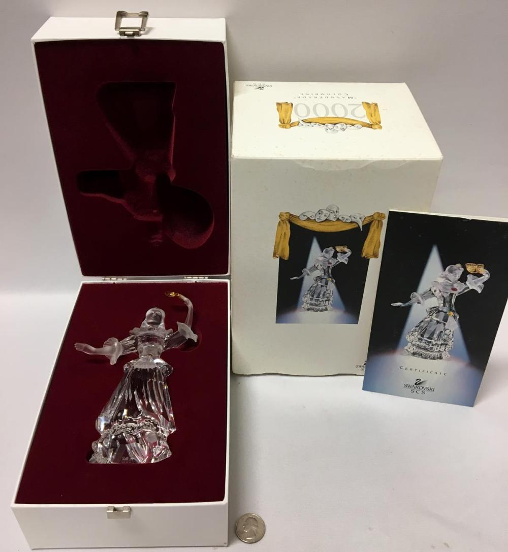 "2000 Swarovski Crystal Annual Edition SCS ""Masquerade"" Columbine In Box with COA"