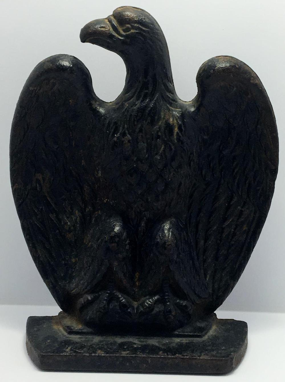 Vintage Cast Iron Eagle Door Stop / Book End / Paper Weight