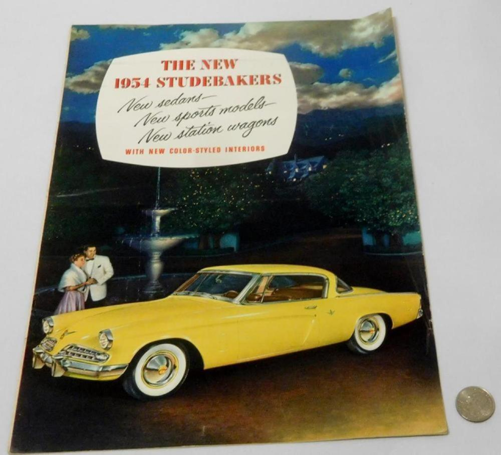 Vintage 1954 The New Studebakers Booklet (Sedans, Sports Models, Station Wagons, Etc..)