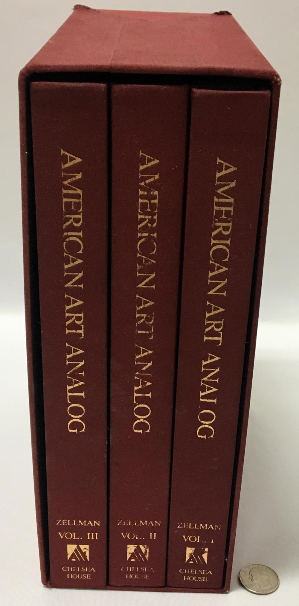 Vintage 1986 American Art Analog Vol. I-III by Michael David Zellman w/ Original Storage Box