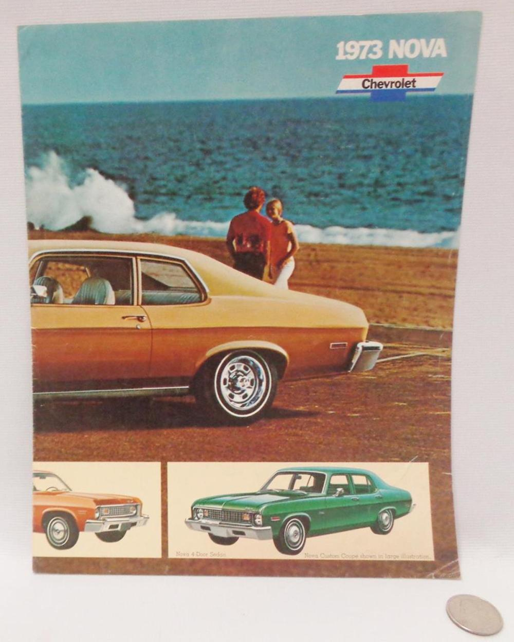 Vintage 1973 Chevrolet Nova SS Dealer Sales-Showroom Brochure Poster