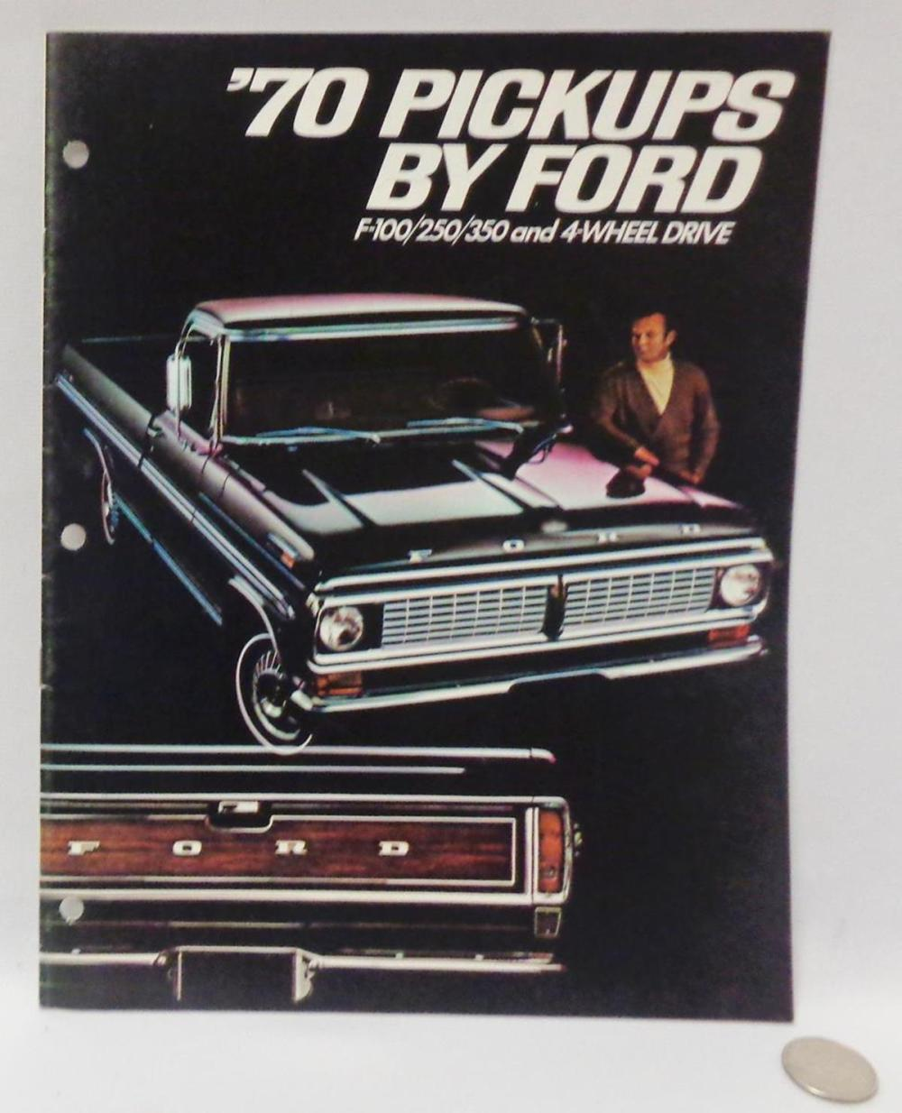 Vintage 1970 Pickup By Ford Vehicle Brochure