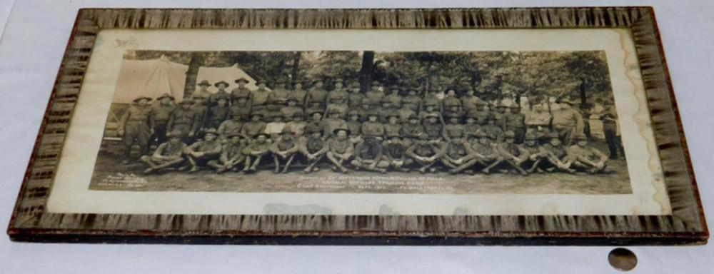 Original Sept. 1917 WWI Jefferson Medical College Officers Training Camp Panoramic Photo (Camp Greenleaf)
