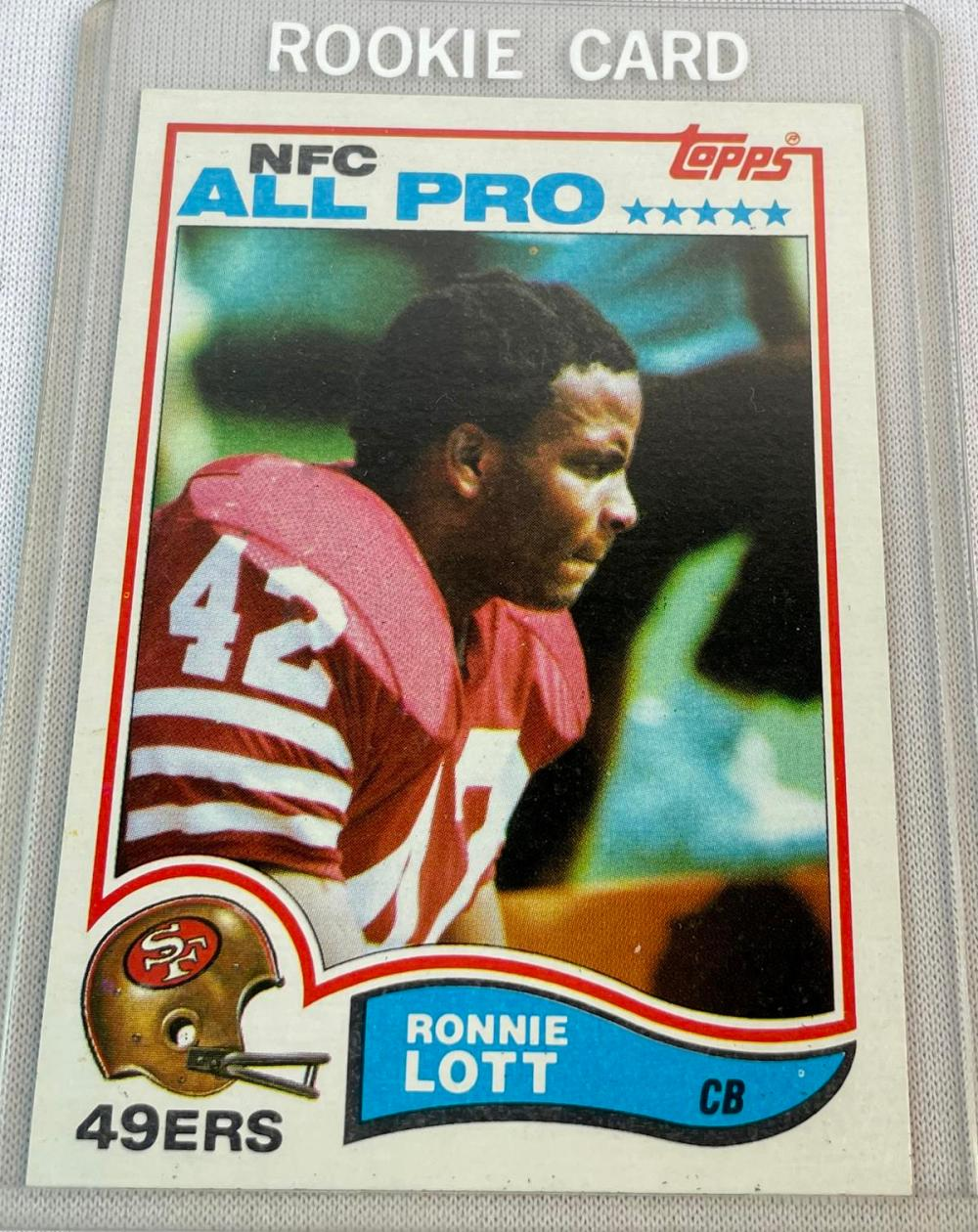 1982 Topps #486 Ronnie Lott San Francisco 49ers Rookie Card