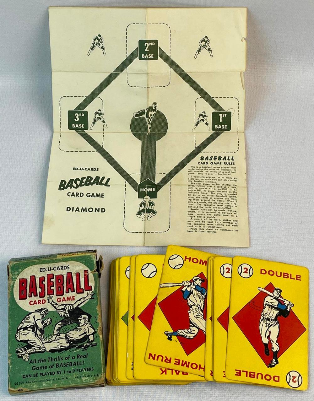 Vintage 1957 Ed-U-Cards Baseball Deck Card Game