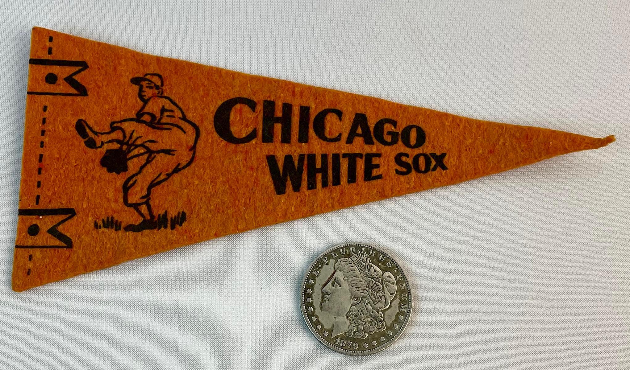 Vintage 1940's Miniature Chicago White Sox Felt Baseball Pennant