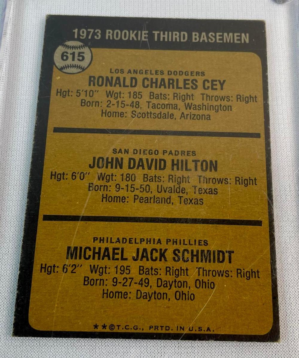 1973 Topps #615 Mike Schmidt Philadelphia Phillies Rookie Card