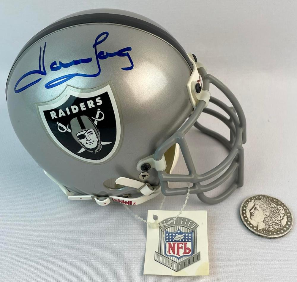 Howie Long Oakland Raiders Signed Riddell Mini Helmet w/ Tag and COA