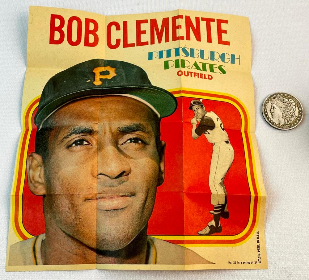 1970 Topps Baseball Pin-ups No. 21 Bob Clemente Pittsburgh Pirates