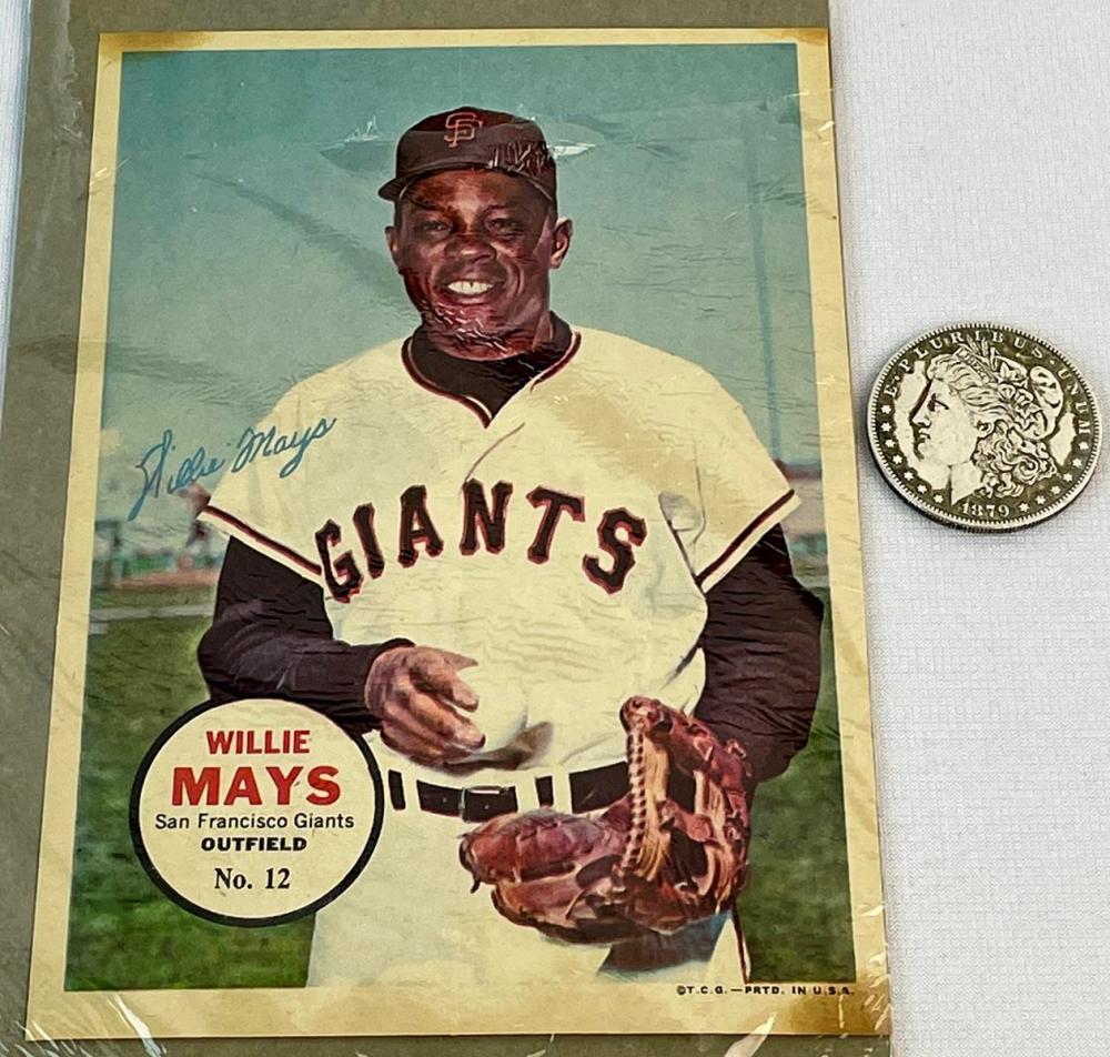 1967 Topps Baseball Pin-ups No. 12 Willie Mays San Francisco Giants